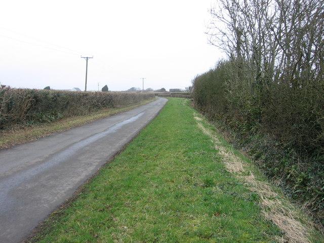 The road past the Framptons towards Llantwit Major