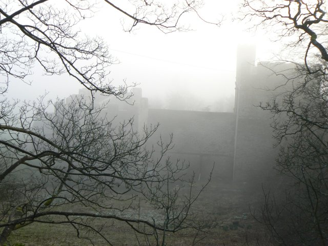 Nappa Hall in the mist