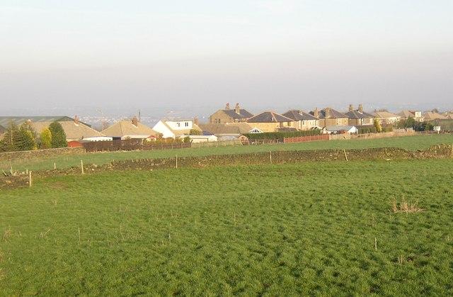 Ribbon development along Dewsbury Road, Rastrick