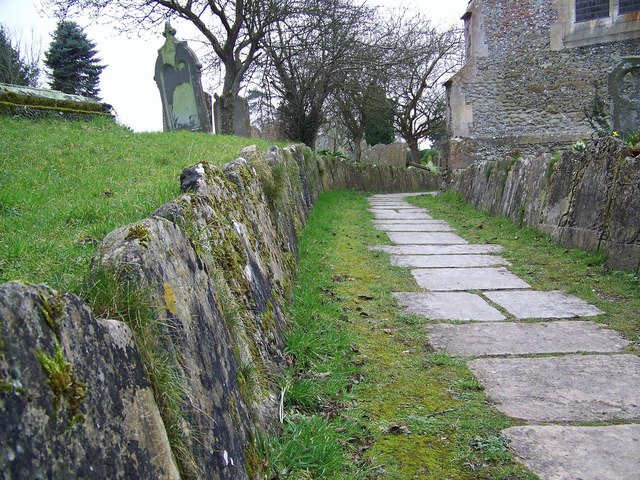 Gravestones at St Peter's Church, Great Cheverell