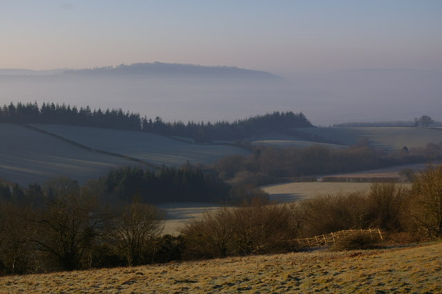 Misty view from Bringewood