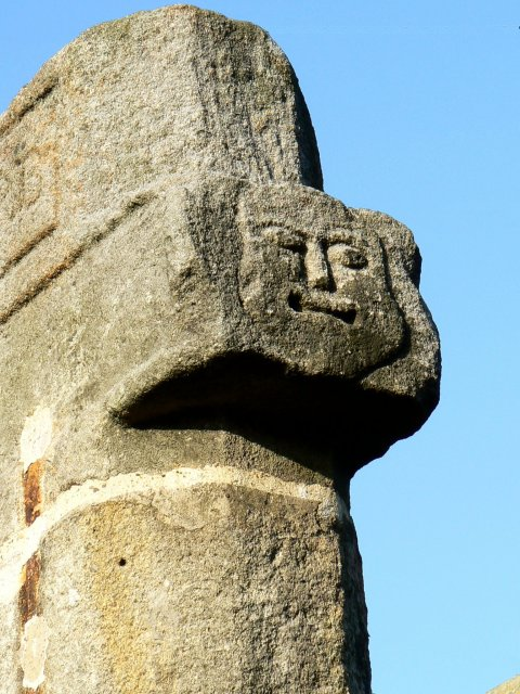 Face on the cross