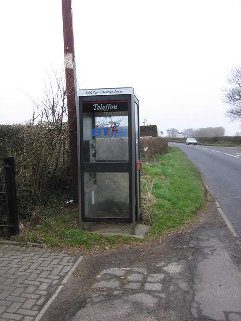 Phone box on the B4270