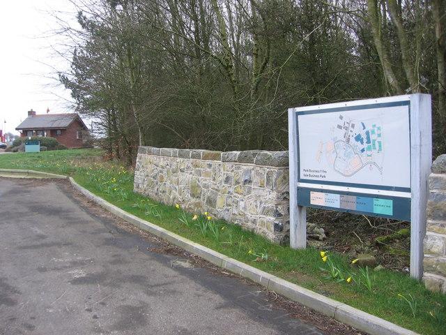 Sign, Vale Business Park