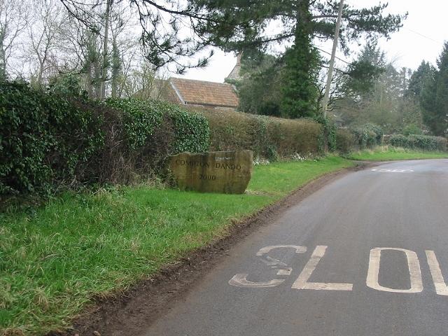 Village sign for Compton Dando