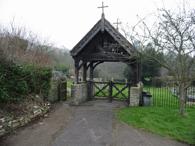 Lych gate of St Mary's church Compton Dando