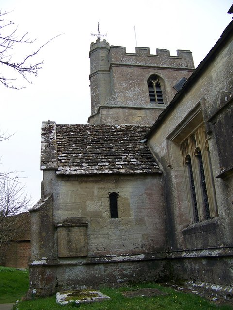 Porch and tower, St Peter's Church, Great Cheverell