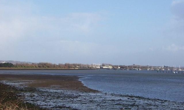 View across Wicor Lake-Fareham
