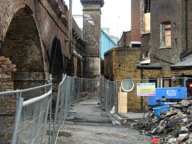 Rear of Hawley Arms, Camden Town