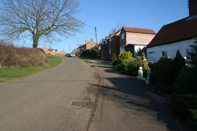 Looking up School Hill, Sproxton