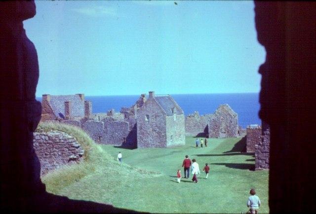Inside Dunnottar Castle