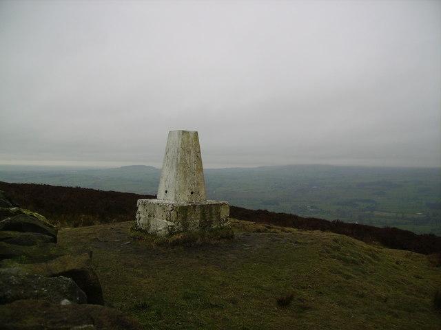 Trig Pillar, Longridge Fell