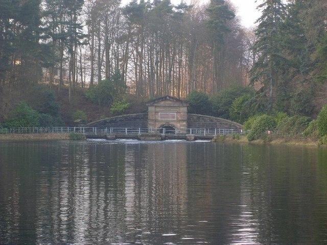 Structure on Craigmaddie Reservoir