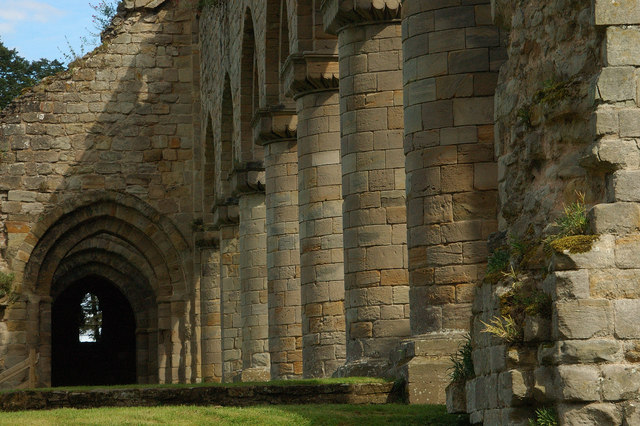 Columns at Buildwas Abbey