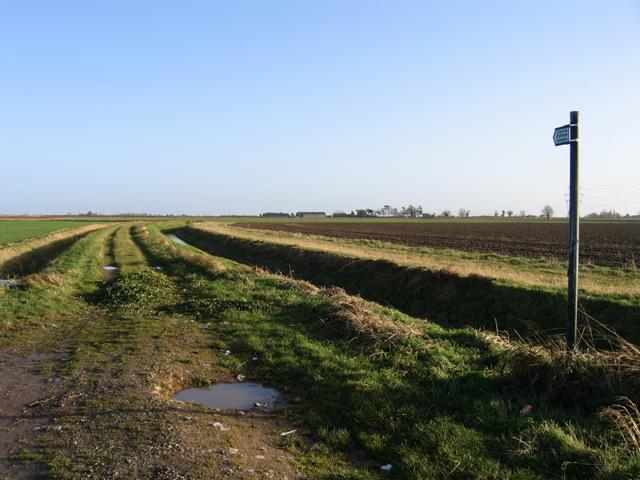 Public bridleway, Donington Wykes, Lincs