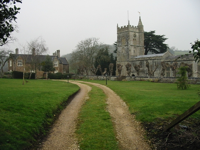 St Mary's church and the Vicarage, Compton Dando