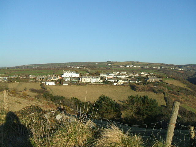 Treknow seen from the old road
