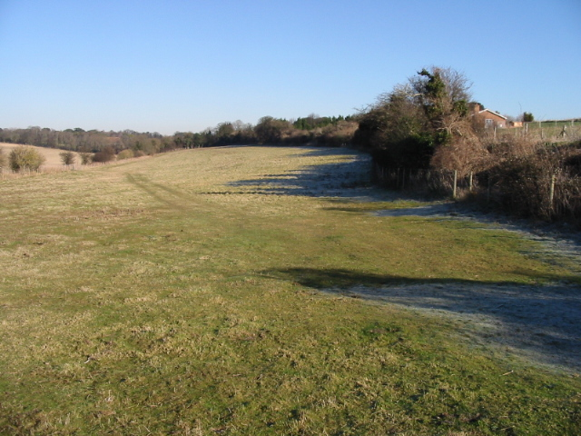 View across the fields, looking NE from Deal Road