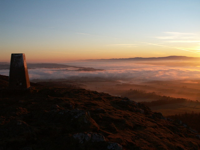 Sunrise over the Cheviots from Eildon Mid Hill