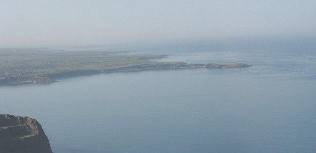 Trwyn Porthdinllaen Point from the slopes of Mynydd y Gwaith