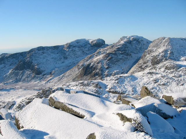 Scafell Pikes from Bow Fell
