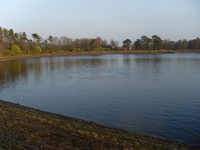View east across Craigmaddie Reservoir