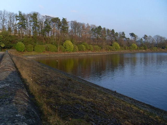 View from path over Craigmaddie Reservoir