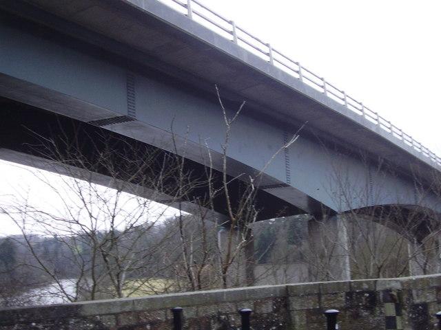 Bridge carrying A68 over River Tweed