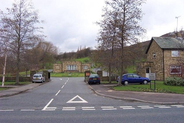Entrance to Park Wood Crematorium