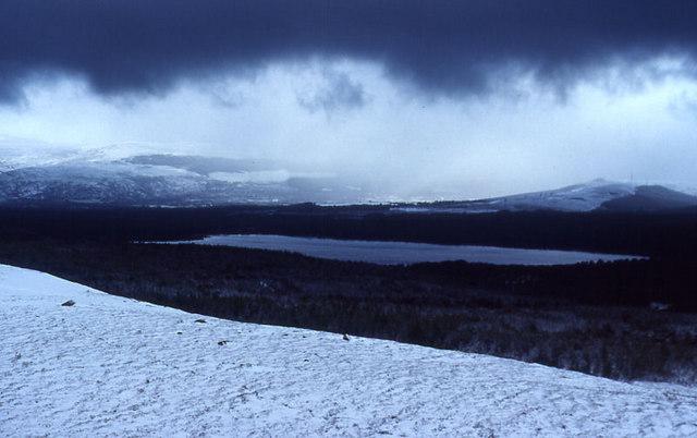 Loch Morlich from the Cairn Gorm car park