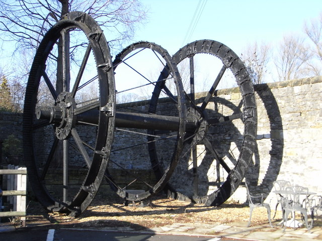 Water wheel remains, Victoria Mill