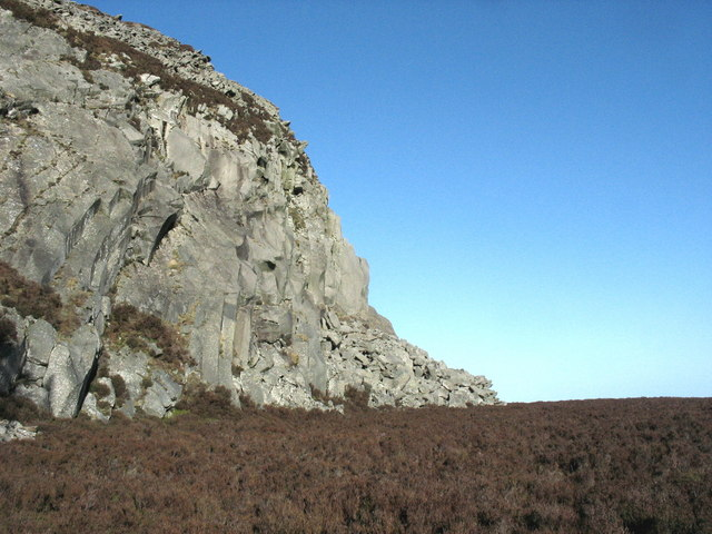 The upper gallery of Gwaith Mawr (the Eifl Granite Quarry)