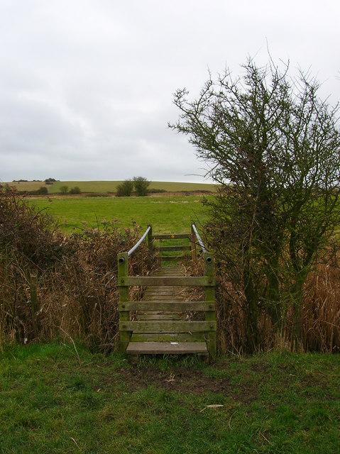 Footbridge over Crooked Ditch