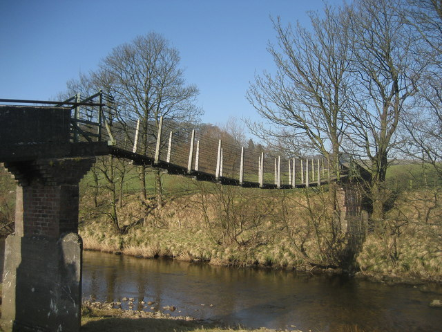 Footbridge over the River Hodder