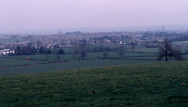 View of Loughborough from below Outwoods
