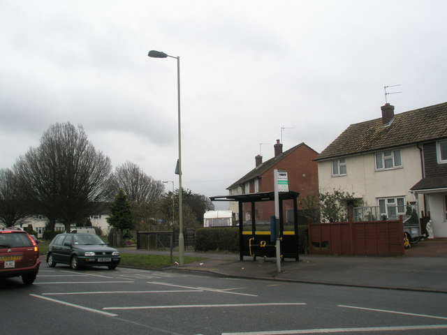 Bus stop in Purbrook Way