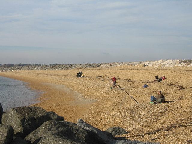 Fishing on Hurst Beach