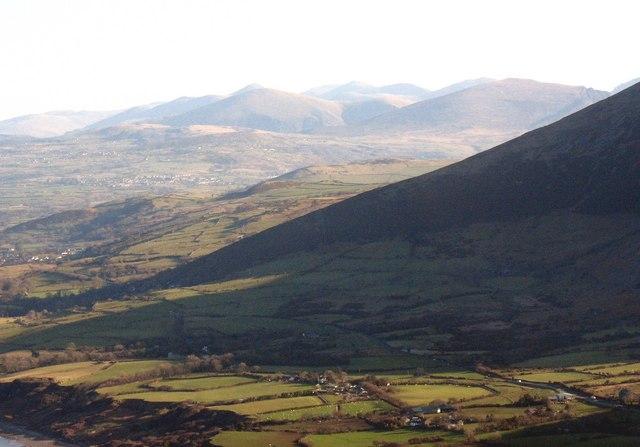 The sunless flanks of the Gurn hills from Mynydd y Gwaith