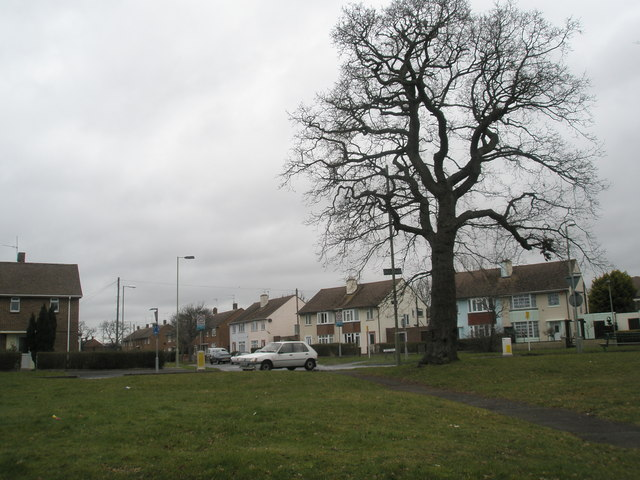 Junction of Corhampton Crescent and Purbrook Way
