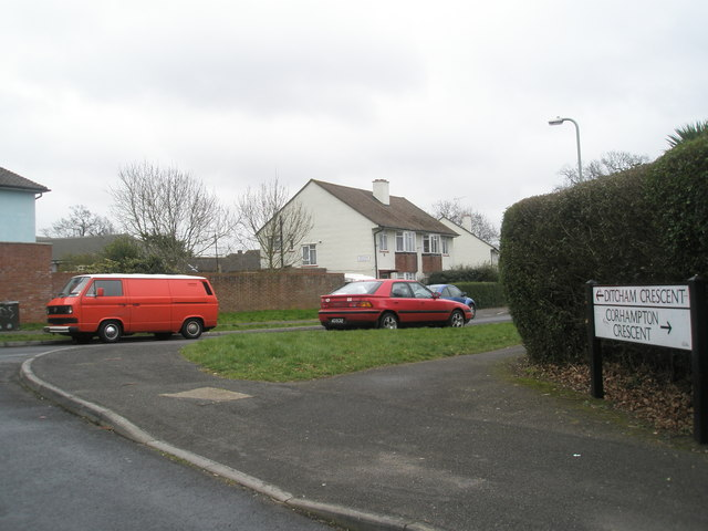 Junction of Corhampton and  Ditcham Crescent