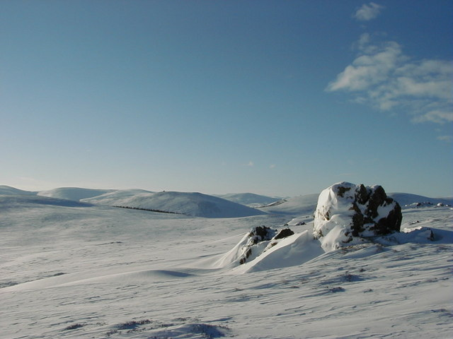 North end of Craigs of Moniewhitt in winter