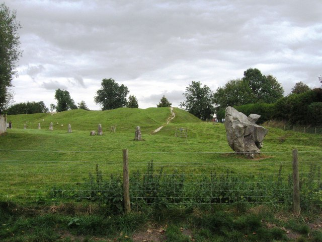 The first stones you see walking from the Avebury stone circle car park