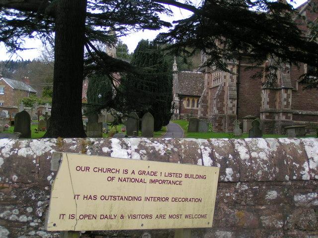 Church near Huntley garden centre
