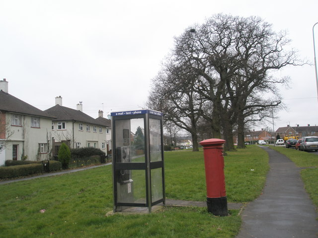 Phone box in Purbrook Way