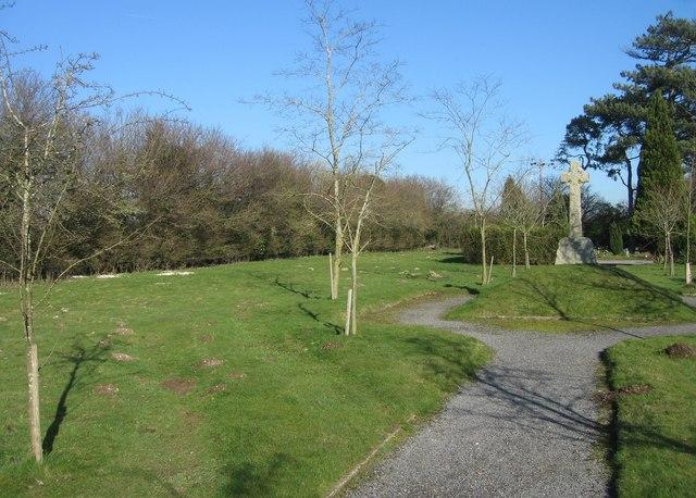 Cemetery focal point