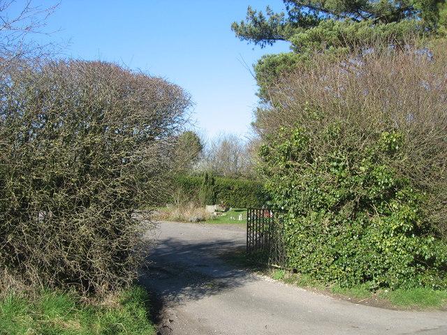 Entrance gates to Rooksdown cemetery