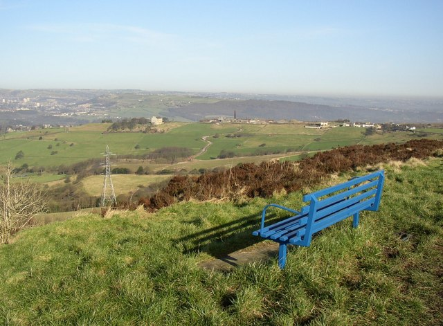 Seat with a view, Old Lindley Edge