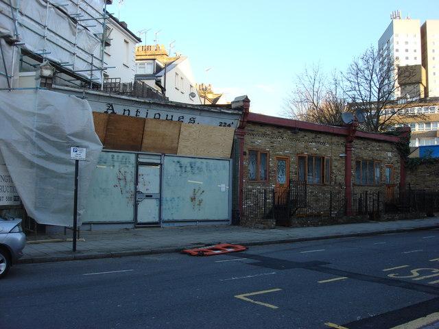 Former shops on Belsize Rd