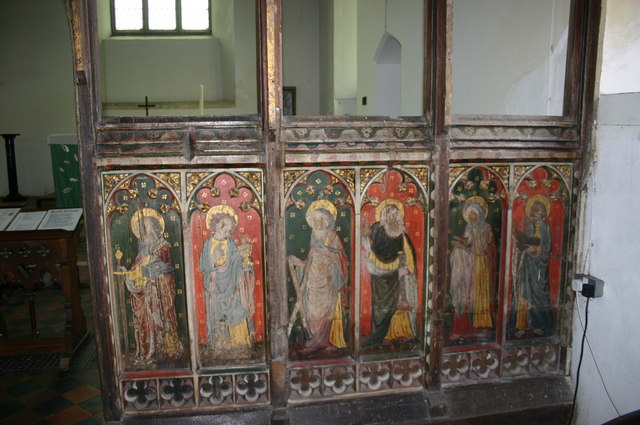 Panels on Rood Screen in St. Peter's Church