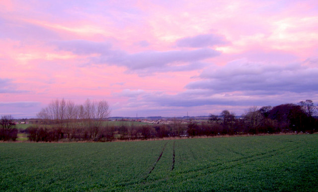 Sunset reflected over Middlecliffe